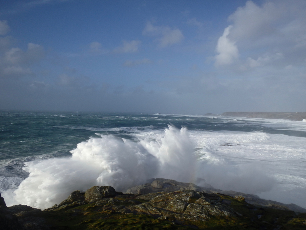 Big Swell breaking at Sennen during Storm Imogen