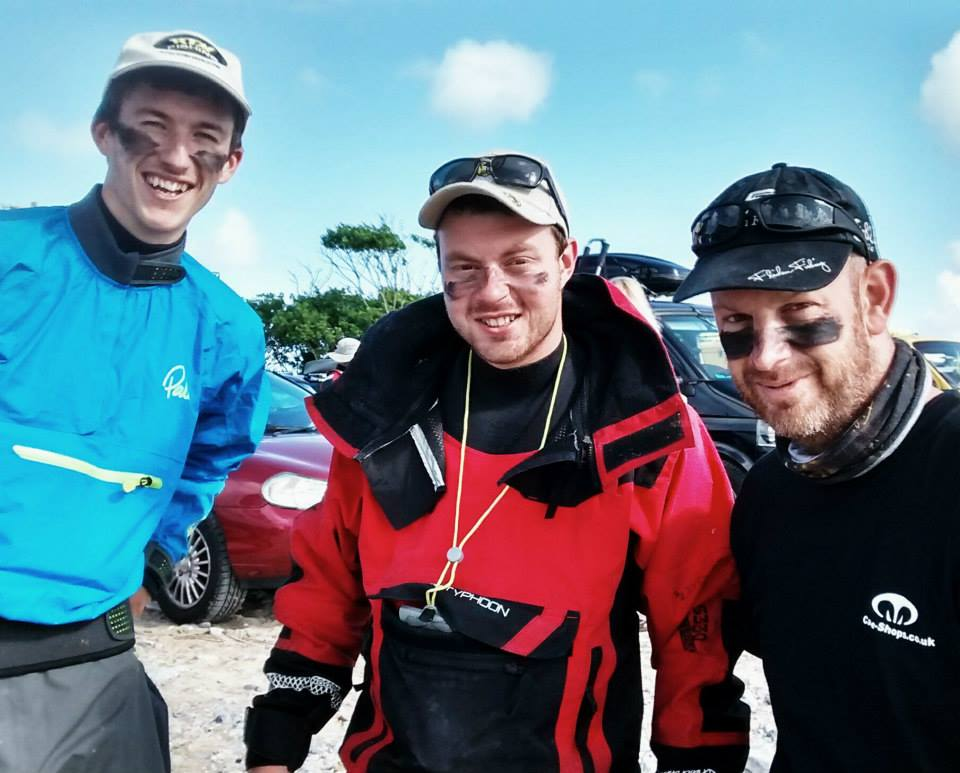Team Black Tempo at Oxwich Bay Kayak Fishing Competition