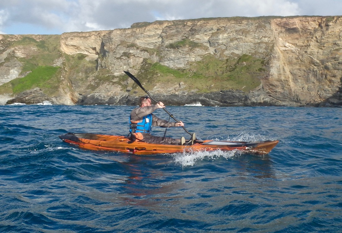 Paddling the RTM Abaco 4.20 in choppy conditions