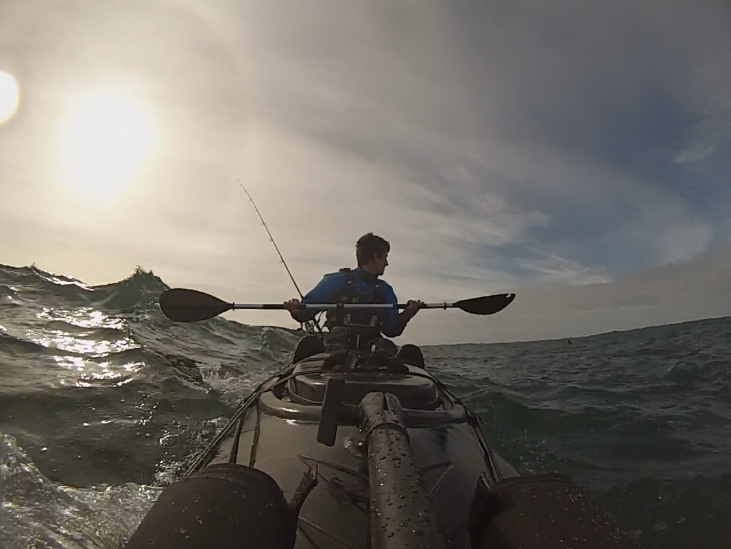 Paddling the RTM Tempo in rough water