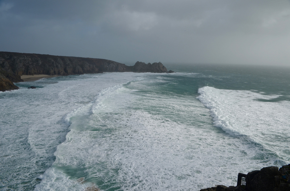 Storm Imogen at Porthcurno