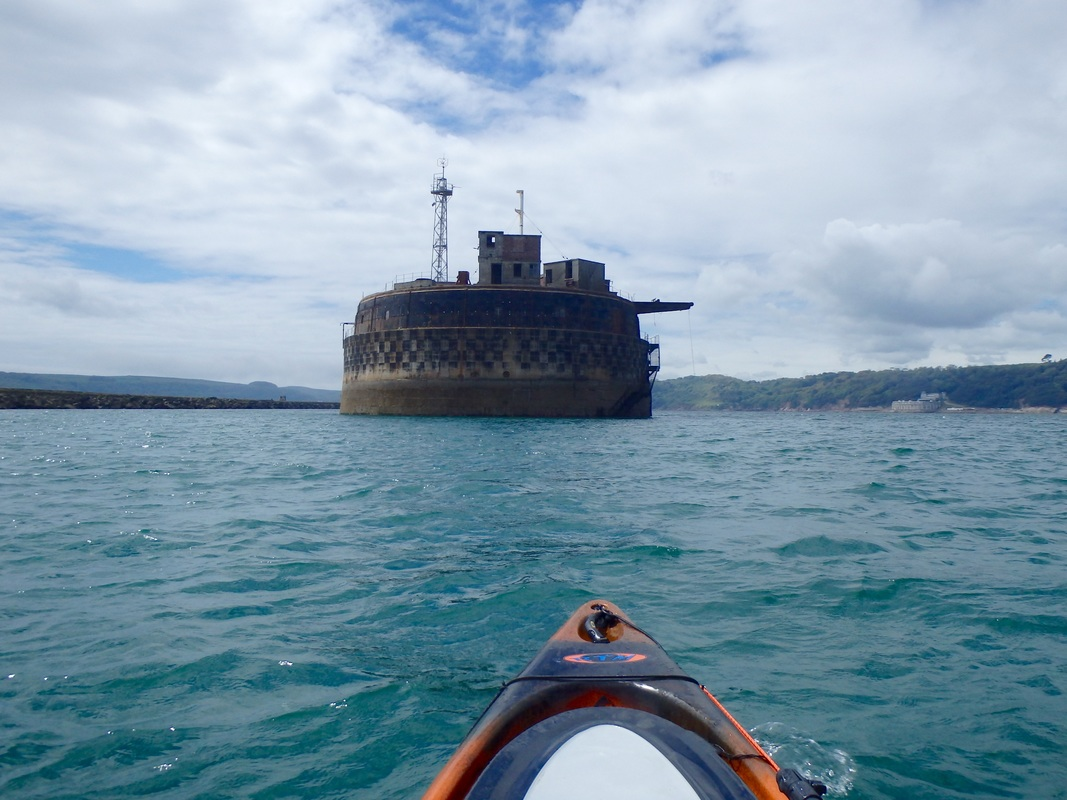 Kayak Fishing at Plymouth Breakwater