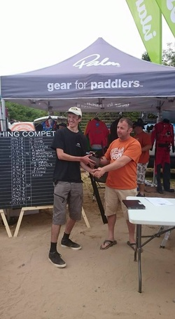 Cornish Kayak Angler 5th Place at the Oxwich Bay Kayak Fishing Competition 2015