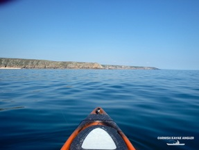 Kayak Fishing at Porthcurno - Fishing on the East side of Logan Rock