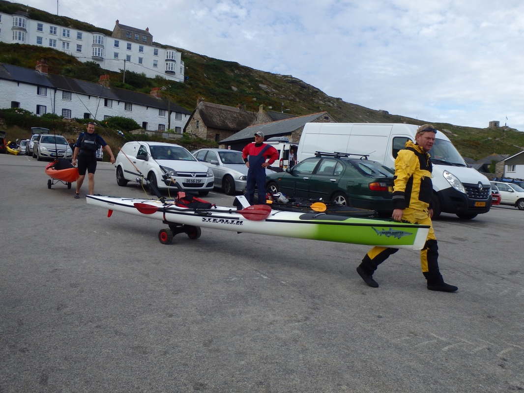 Craig with his Stealth at the Penzance Kayak Fishing Meet 2015