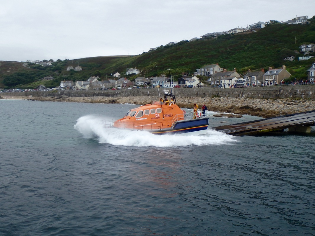 Sennen Lifeboat Launch