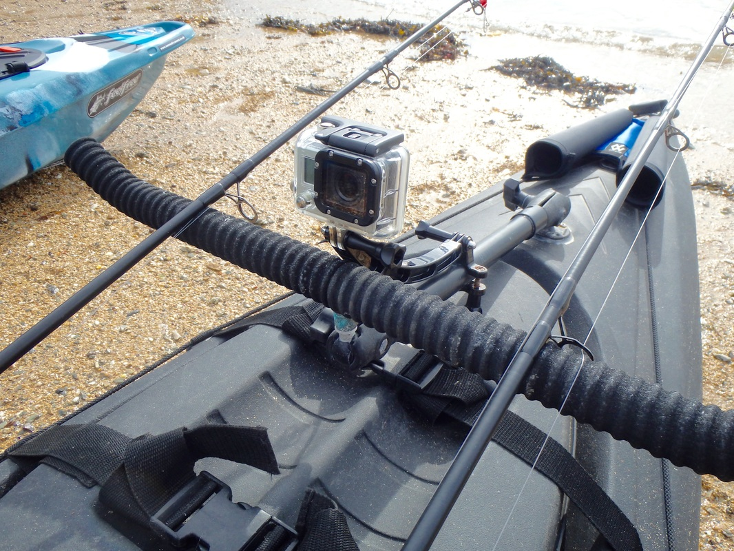 Ram Pole Rod Rest with Go Pro Mount for Kayak Fishing