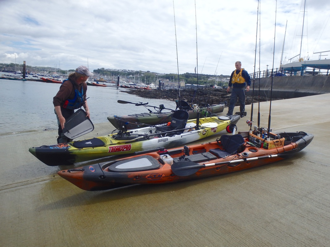 Kayak Fishing at Plymouth - Launching at Mount Batten