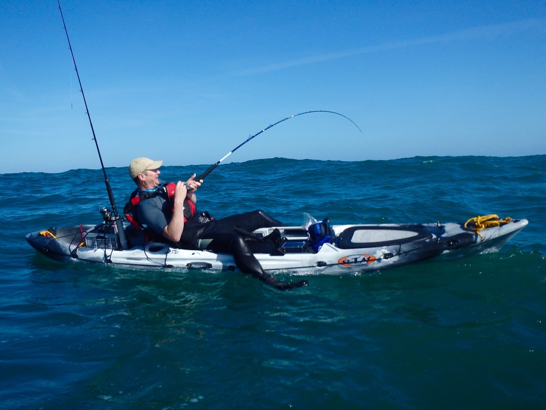 Kayak Fishing for Tope in Cornwall - RTM Abaco