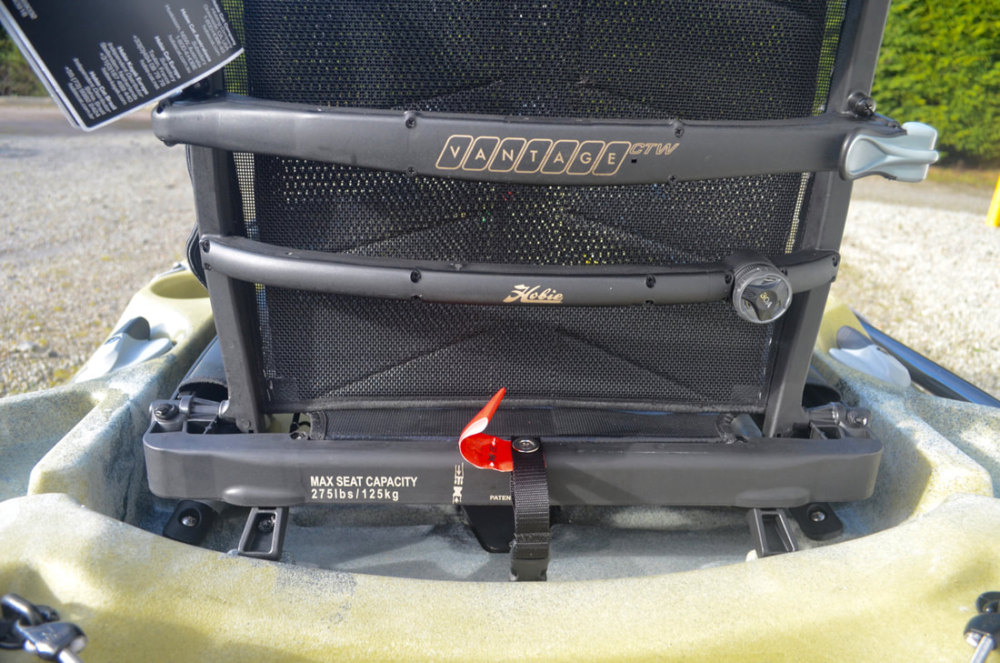 Hobie Outback 2019 Vantage CTW Seat Kickstand Deployed