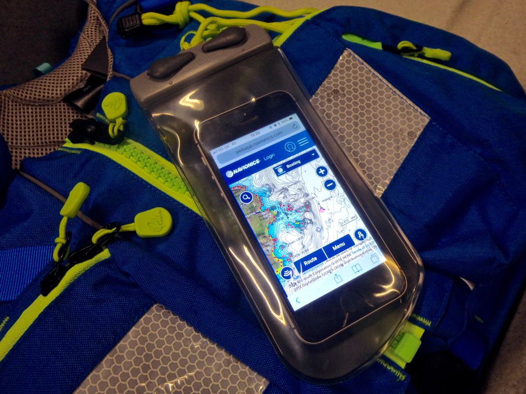 Aquapac make a great range of waterproof phone cases for kayak fishing