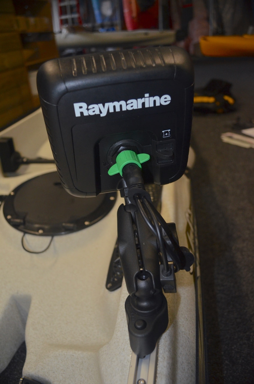 Raymarine Dragonfly 5 Pro installed on a Revolution 16