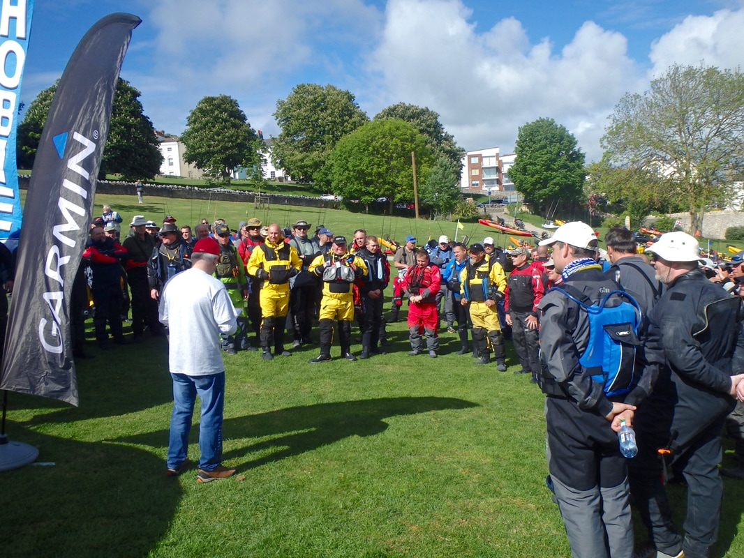 Safety Briefing at the Swanage Classic 2017