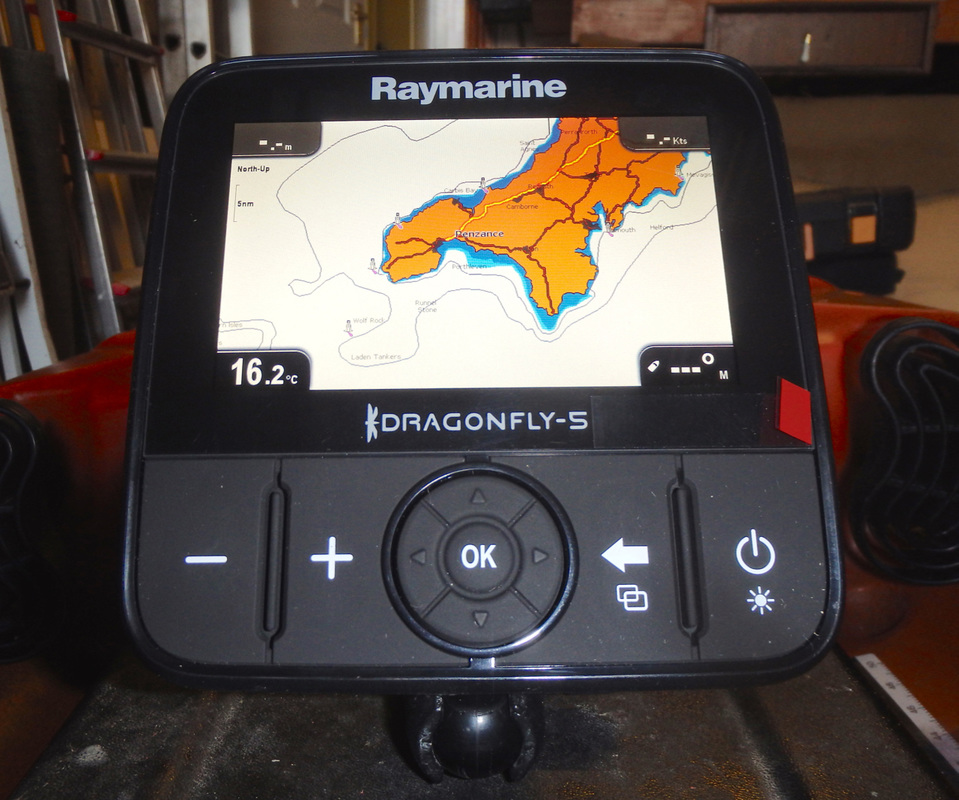 Installing a Raymarine Dragonfly 5-Pro on a kayak