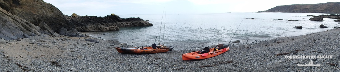 Kayak Fishing at Porthallow - Fletching's beach a few minutes paddle from Porthallow
