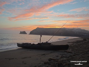 Kayak Fishing at Portreath - Launching at Sunrise