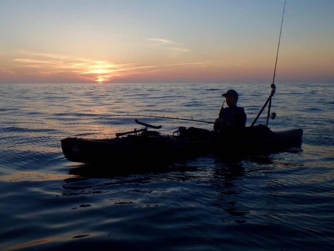Sunset Kayak Fishing in Cornwall