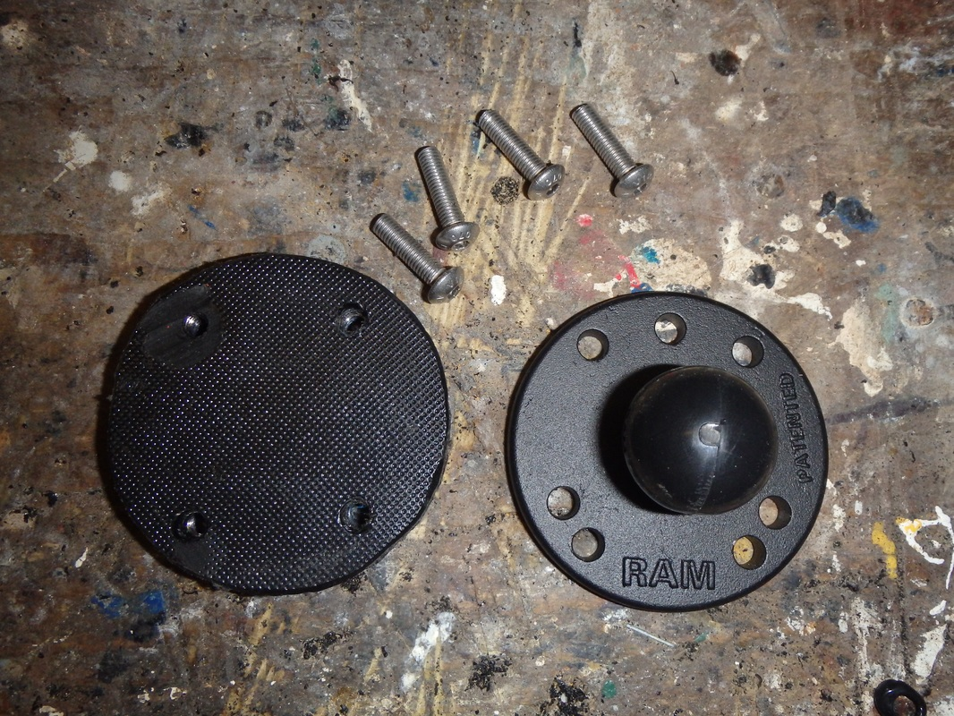Making a Ram ball backing plate with countersunk nuts
