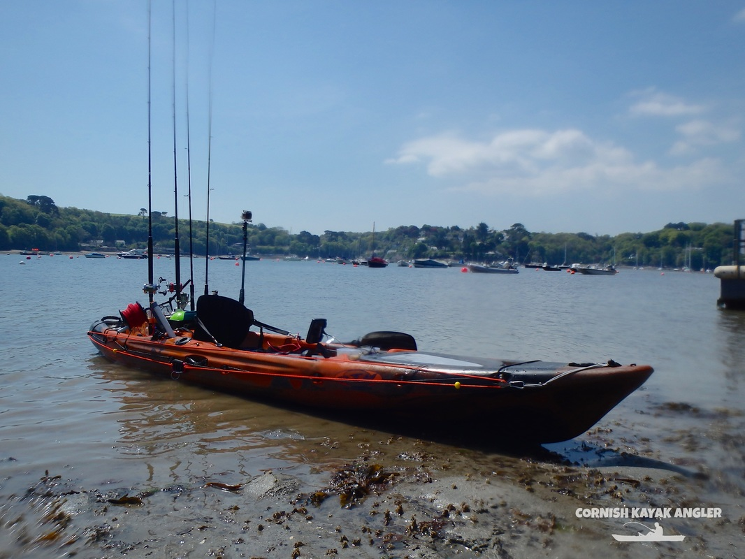 Kayak Fishing at the River Helford - Landing at low tide at Helford Passage