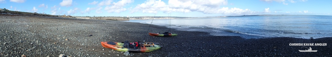 Kayak Fishing at Newlyn  - Sandy Cove Beach & South Pier