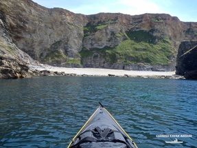 Kayak Fishing at Portreath - Stunning cliffs to the West
