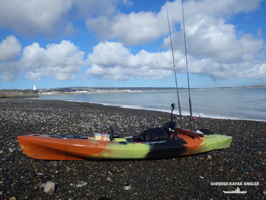 Kayak Fishing at Newlyn - Launching from Sandy Cove beside South Pier