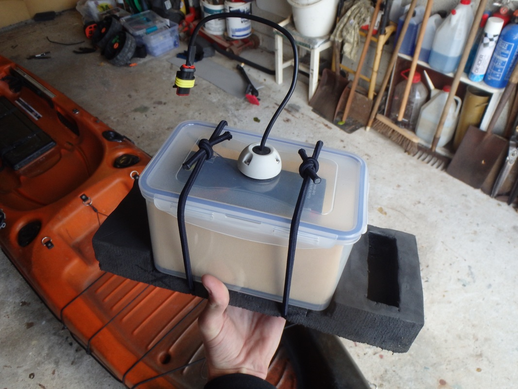 Battery Box Holder for Kayak Fishfinder Battery