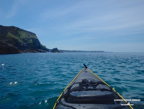 Kayak Fishing Portreath - Looking towards Godrevy
