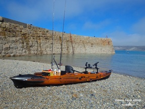 Kayak Fishing at Sennen -  launching from within the breakwater