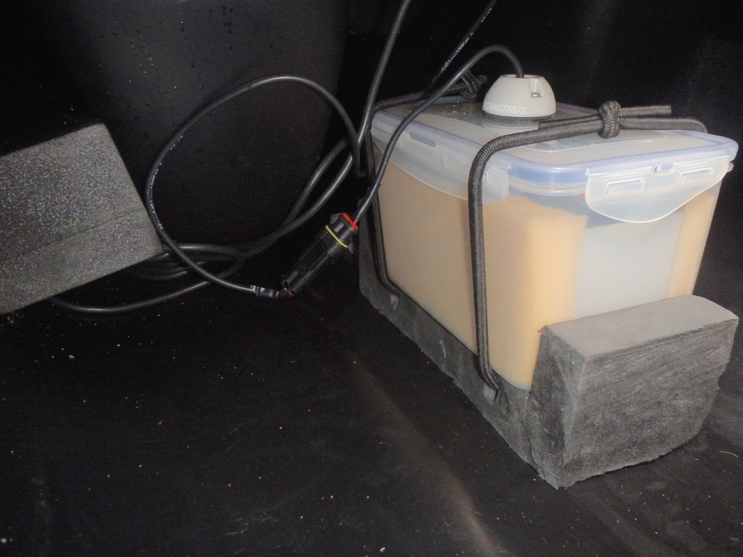 Battery Box holder for a kayak fish finder