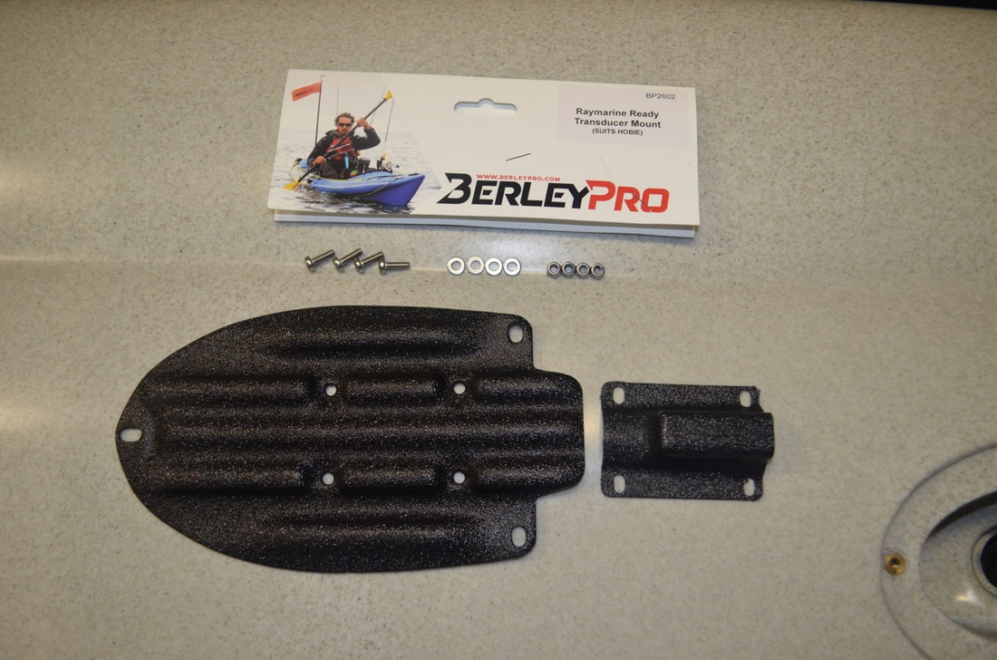 Berley Pro Raymarine Ready transducer mount for Hobie Kayaks