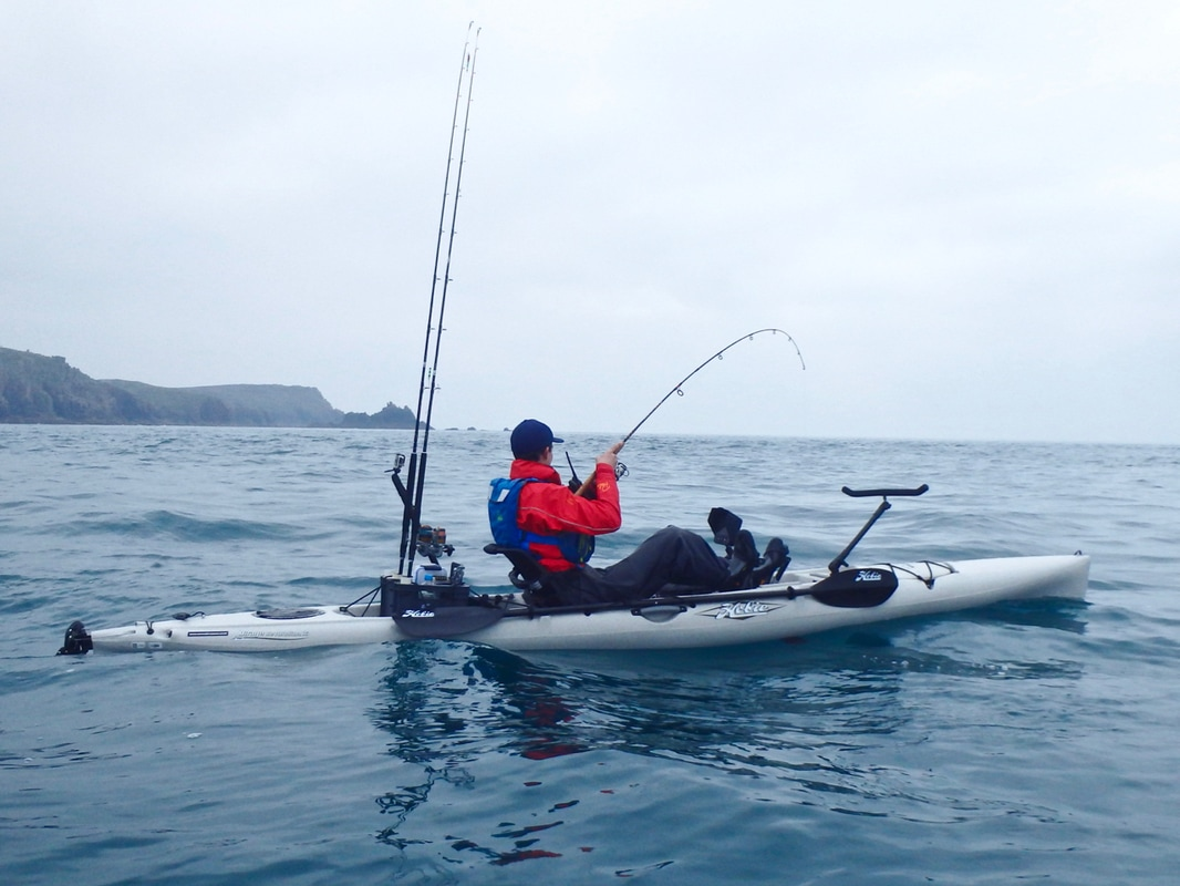 Fishing from the Hobie Revolution 16 Kayak in Cornwall