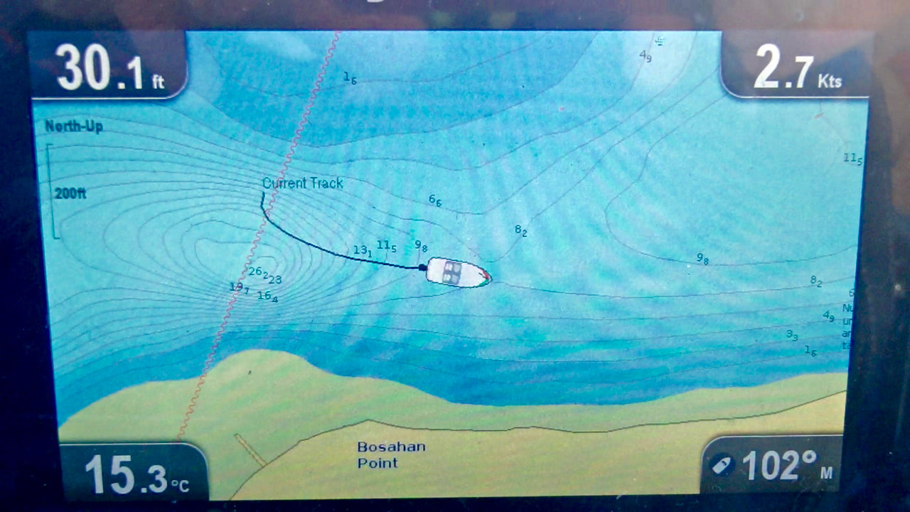 GPS chart plotter for kayak fishing navigation