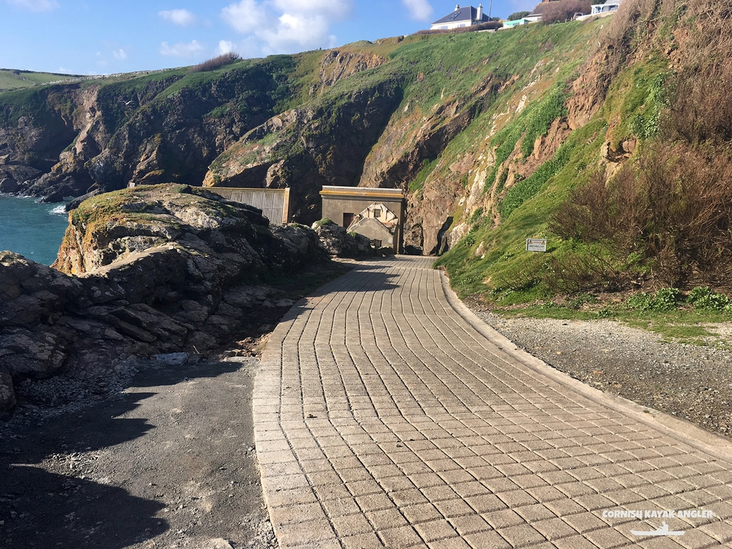 The slipway down to the Lizard Point beach
