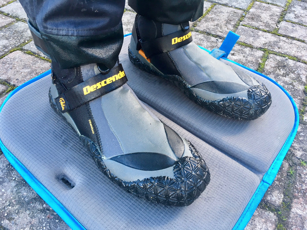 Wetsuit boot with tough rubber sole is ample for most kayak fishing situations