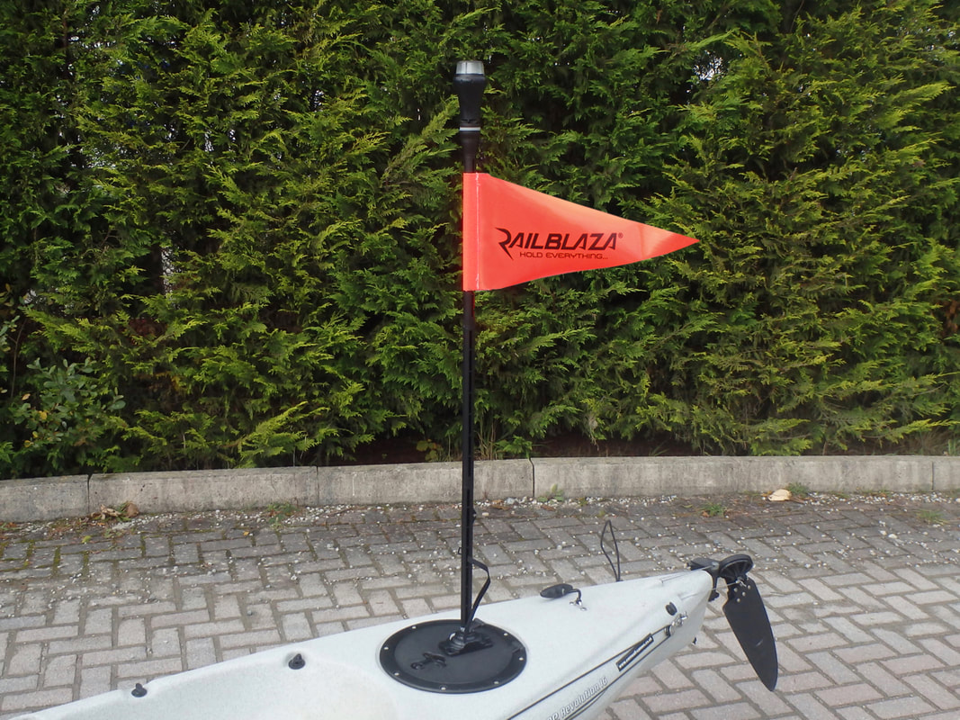 Kayak Safety Flag & Visibility Lights make you more visible to other water users